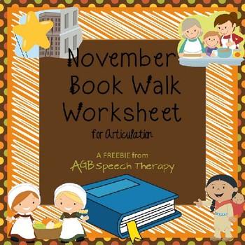 November Book Walk Worksheet