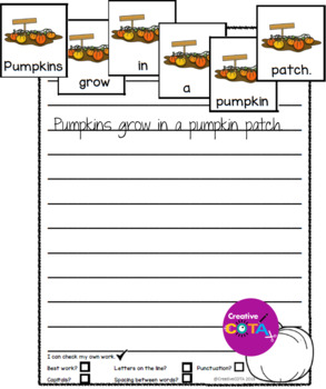 November Themes Build a Sentence Bundle