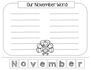 November Build a Word