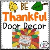 November Bulletin Board Thankful Door Decor Thanksgiving B