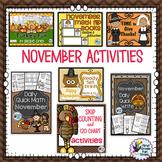 Thanksgiving Activities Bundle of ELA and Math