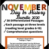 November Bundle-Day in History Differentiated Reading Pass