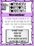 November Bundle! Vocabulary PowerPoints match Rooted in Reading 3rd Grade Books