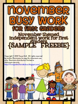 November Busy Work {FREEBIE}