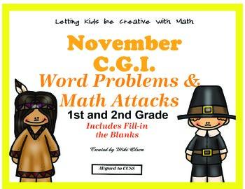 C.G.I & Math Attacks Common Core November Combo Pack!