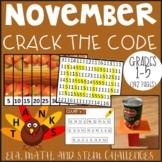 November CRACK THE CODE (Grades 1-5)