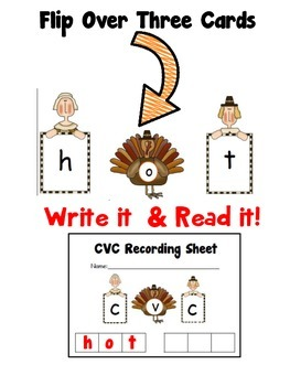 November CVC Word Making