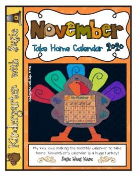 November Calendar Craft and MORE