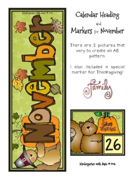 November Calendar Craft and MORE