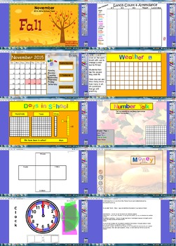 November Calendar 2015 flipchart