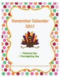 November Calendar 2017