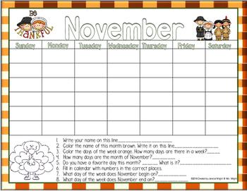 Calendar Math November
