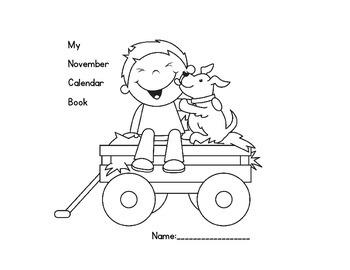 November Calendar Book