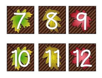 November Calendar Cards (Leaves)