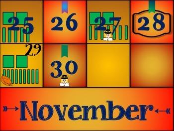 November Calendar Cards (Set 2)