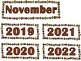 November Calendar Cards {Thanksgiving} Pilgrim Corn {Morning Math} Number Corner