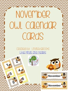 November Owl Calendar Cards and Headers