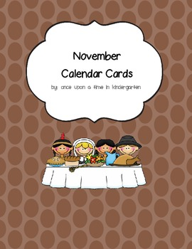 November Calendar Cards with Monthly Topper