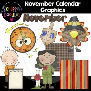 November Calendar Graphics