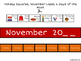 November Calendar Concepts: Following Directions & Answering Wh-Questions