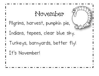 November Calendar Journal Pages