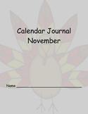 November Calendar Journals