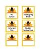 November Calendar Numbers (2 Sets: Turkeys & Pilgrim Hats)