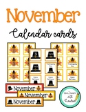 November Calendar Numbers (2 Sets: Turkeys & Pilgrim Hats)