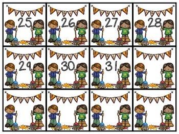 November Calendar Numbers