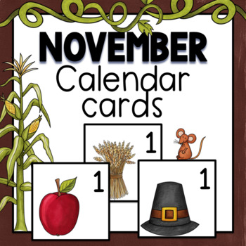 November Calendar Numbers FREE RESOURCE by TxTeach22 | TpT