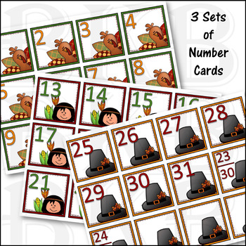 November Calendar Numbers ● Morning Math ● AB Patterns ●Days of the Week Cards