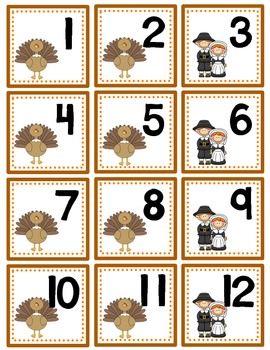 November Calendar Numbers with Patterns