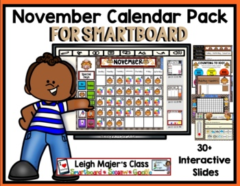 2017 November Math and Calendar Pack for SMARTboard
