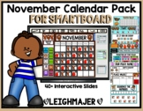 2018 November Math and Calendar Pack for SMARTboard