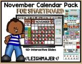2018 November Math and Calendar Pack for SMARTboard