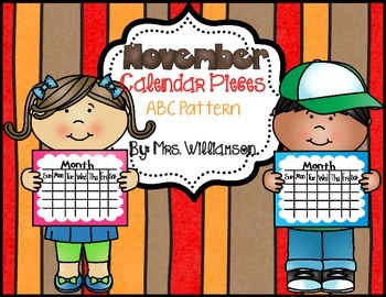 November Calendar Pieces-ABC Pattern