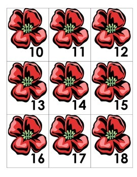 November Calendar Pieces - Poppies