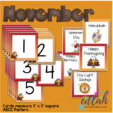 November Calendar Pieces - Thanksgiving Turkey Themed - AB