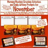 November Calendar Questions