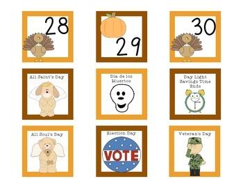 November Calendar Set