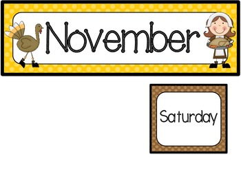 November Calendar Set-Polka Dots