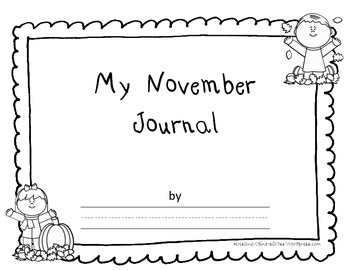 November Calendar and Journal Cover