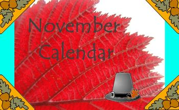November Calendar for the Promethean Board