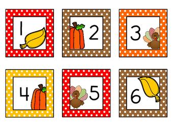 November Calendar pieces FREEBIE