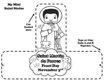 November Catholic Saint Calendar Activities - Saint Martin de Porres
