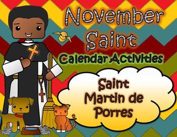 November Catholic Saint Calendar Activities - Saint Martin