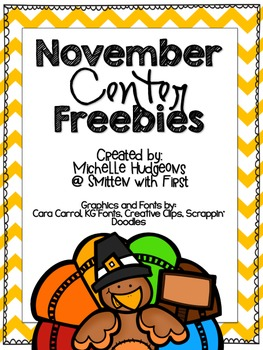 November Center FREEBIES {Math & ELA}