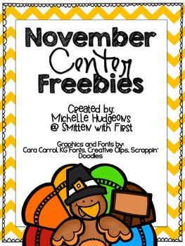 November Center FREEBIES {Math & ELA}