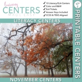November Centers — First Grade ELA ONLY