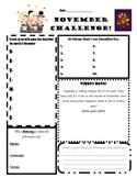 November Challenge Worksheet--Transition Activity